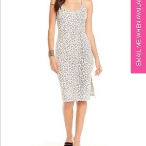 Chase Snow Leopard Bodycom strappy Dress
